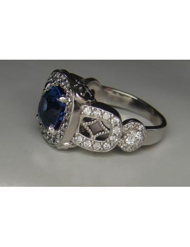 Ceylon Blue sapphire ring 2.63 cts.