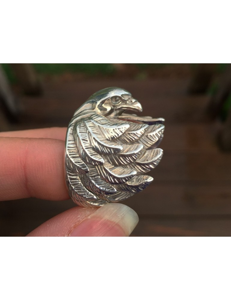 Men's Silver eagle ring